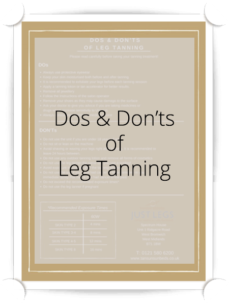 Dos and Don'ts of Leg Tanning Tansun Poster