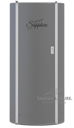 Tansun 6ft Sapphire vertical home hire sunbed in standard grey colour