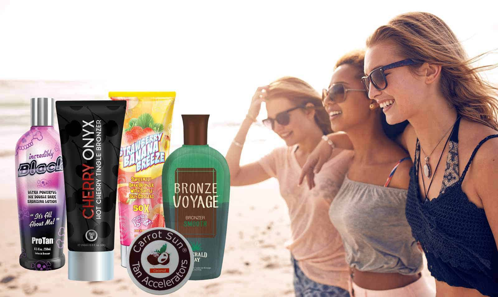 Best sunbed creams and tanning lotions for use within a sunbed.